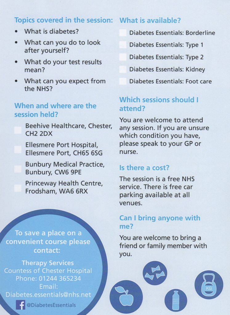 free diabetes essentials sessions at beehive healthcare information p2