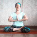 Nicola Wagstaff practising yoga