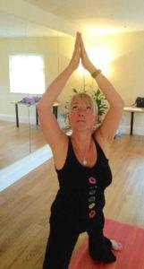 Tracey Horton practising Dru Yoga