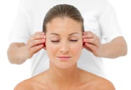 image showing woman having facial therapy massage in chester