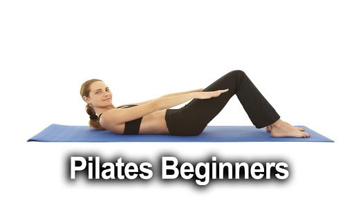 image showing a woman in a pilates pose