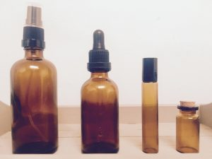 aromatherapy oils in bottles