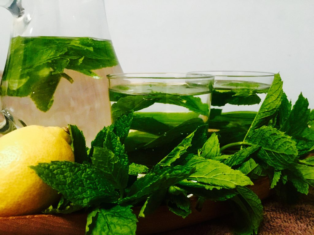 Image showing cool refreshing minty water