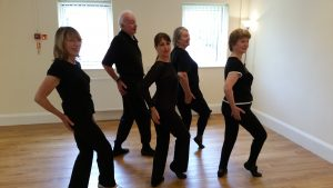 Practising at the Jazz Dance Stretch and Tone Class