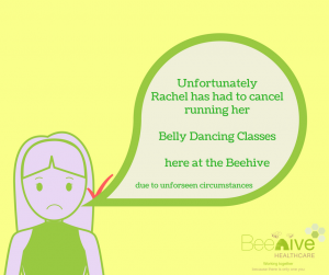 Belly Dancing Classes Cancelled