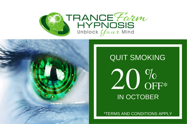 20% off quite smoking offer with tranceform hypnosis