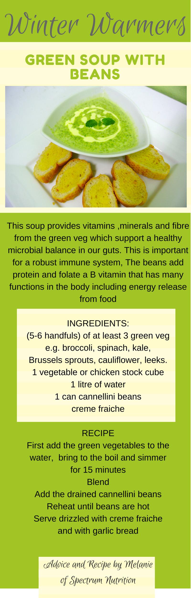 winter warmer soup recipe from spectrum nutrtion