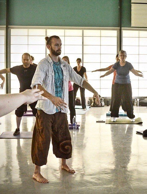 A Qi Gong session at Beehive Healthcare, Chester