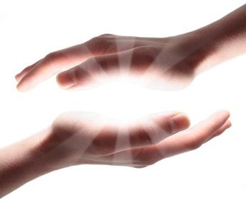Healing hands are used when performing Reiki